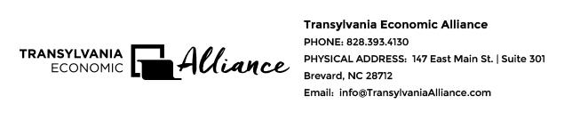 Transylvania Economic Alliance | 147 East Main Street | Suite 301 | Brevard, NC 28712